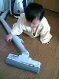 子供と掃除機